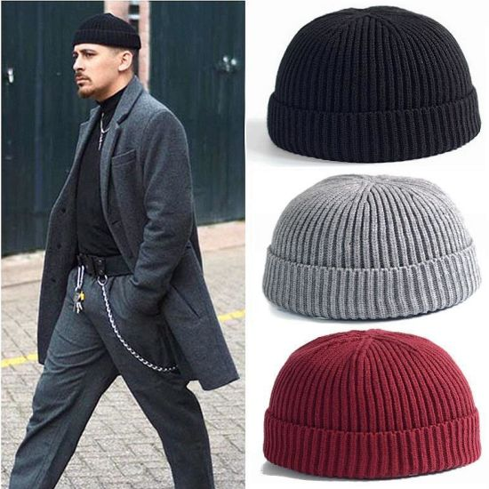 Hip Hop Hat Adult Men Knitted Beanie Skull Cap pictures & photos