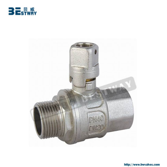 Brass Lockable Ball Valve with Square Handle (BW-L15) pictures & photos