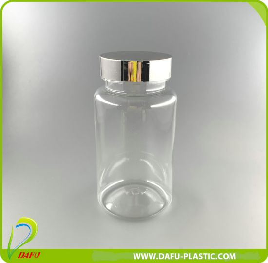 Pet 200ml Clear Plastic Pharmaceutical Pill Bottle with Cap
