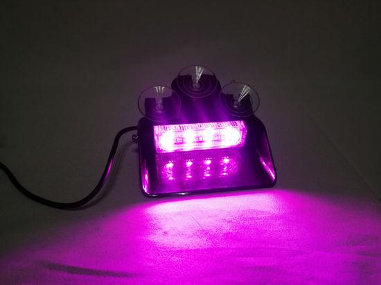 China 9 30v Purple Led Warning Flash Windshield Strobe Light