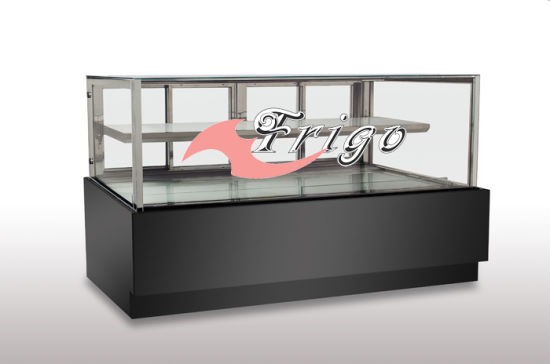 china 2 0 version high end floor standing chiller cake showcase rh h kitchen en made in china com