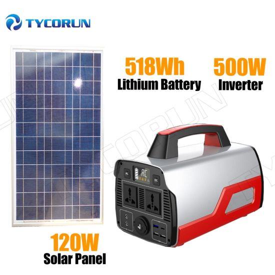 Tycorun Portable Energy Storage System 500W Solar Inverter Generator Power Station Supply