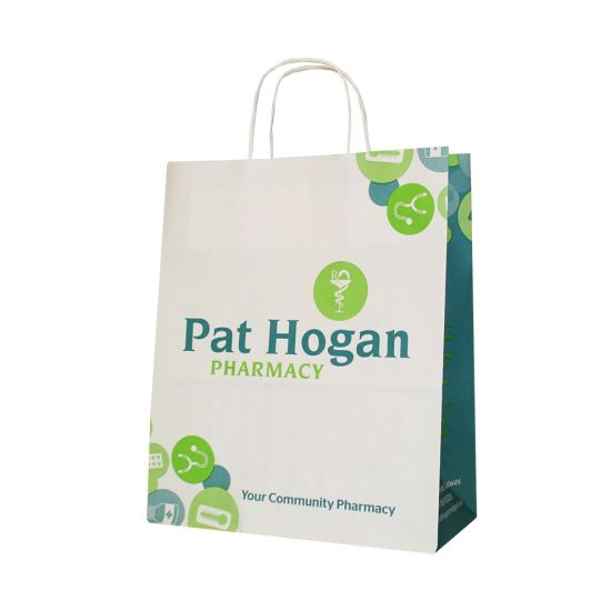 Personalized Manhattan Paper Gift Bag with Handle
