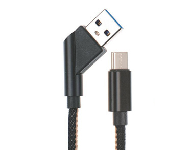 Right Angle Jean Jacket Cell Phone Cable, Smartphone Accessories
