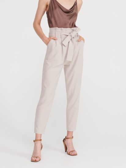 Fashion Office Work Pencil Leg Trouser Pant with Waist Tie