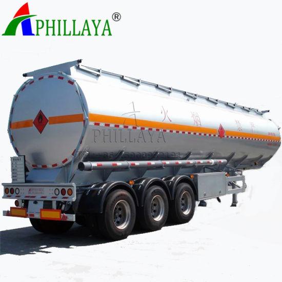 3 Axles Aluminium Fuel Tank Semi Truck Trailer (03)