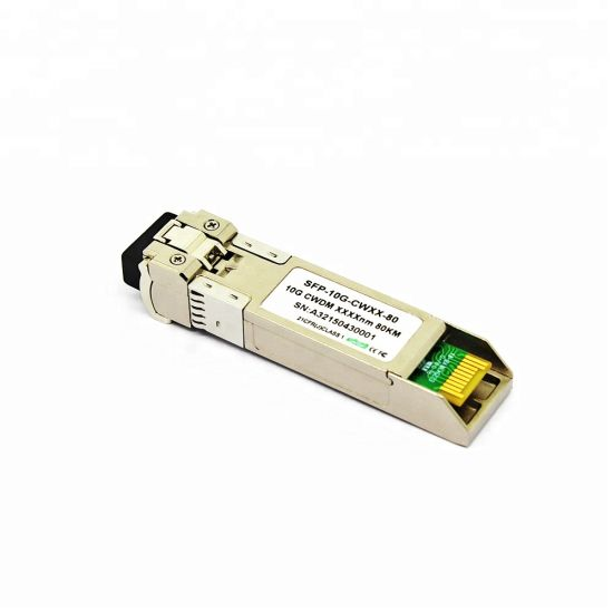 China 10g 1260 to 1610nm 80km CWDM SFP+ Module Compatible