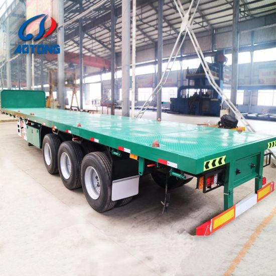 Videos---3 Axles Semi Trailer Utility Truck Flatbed Container Trailer with BPW /Fuwa Axles, Jost Landing Gear, Wabco Brake Valves