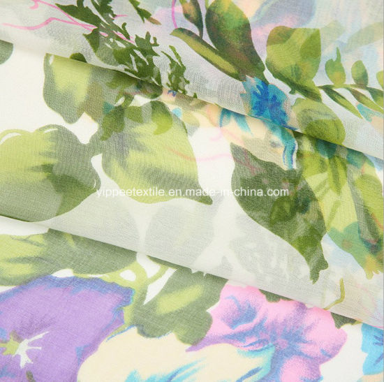 Beautiful Printed Silk Chiffon Fabric pictures & photos