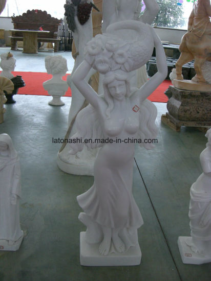 White Marble Stone Garden Lady Sculpture pictures & photos