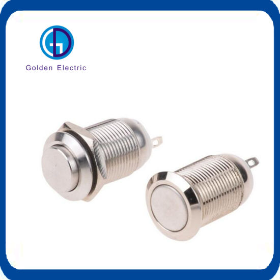 LED Ring Illuminated Stainless Steel Small Round Push Button Switch