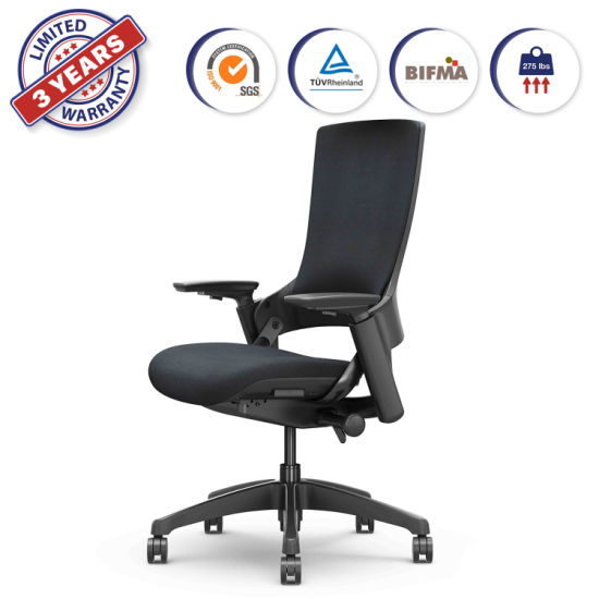 Adjustable Height Upholstered Swivel Rotary Executive Chair for Home Office Computer Desk Black (247-C BF) pictures & photos