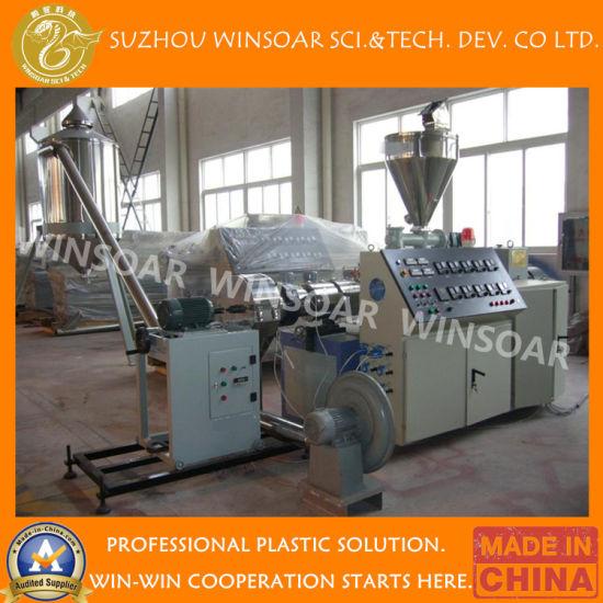 Wholesale Plastic Double Twin Screw Extruder PVC Die Face Hot Cutting Compounding Pelletizing Machine