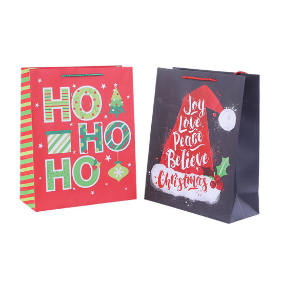 BSCI Fsc Machine Made Christmas Gift Packaging Paper Gift Bags