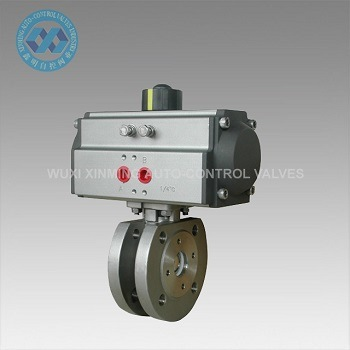 Pneumatic Stainless Steel Flange Ball Valve pictures & photos