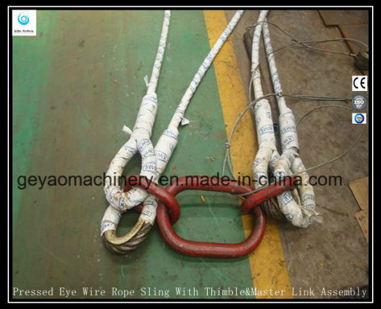 Iwrc Wire | China Pressed Eye 6 19 Iwrc Wire Rope Sling With Thimble And Master