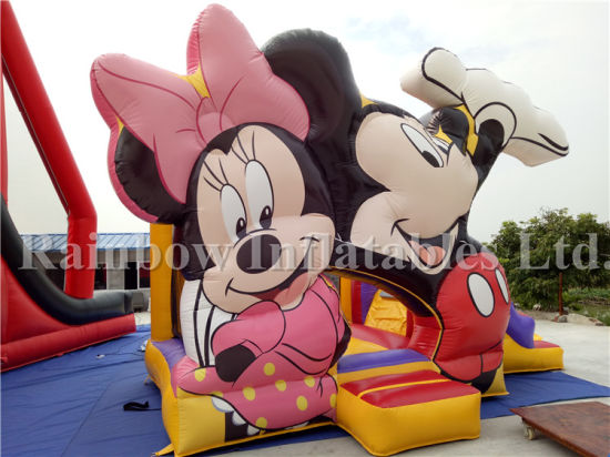 Hot Selling Inflatable Funny Mickey Bouncer with Slide (RB1064) pictures & photos