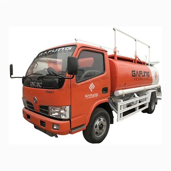Dongfeng Small Diesel and Gasoline 4000liters Fuel Tank Truck for Sale