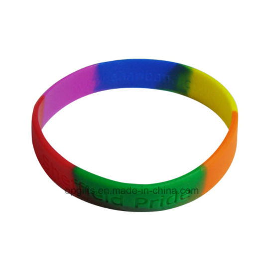 Glow in Dark Silicon Wristbands Hand Bracelet pictures & photos