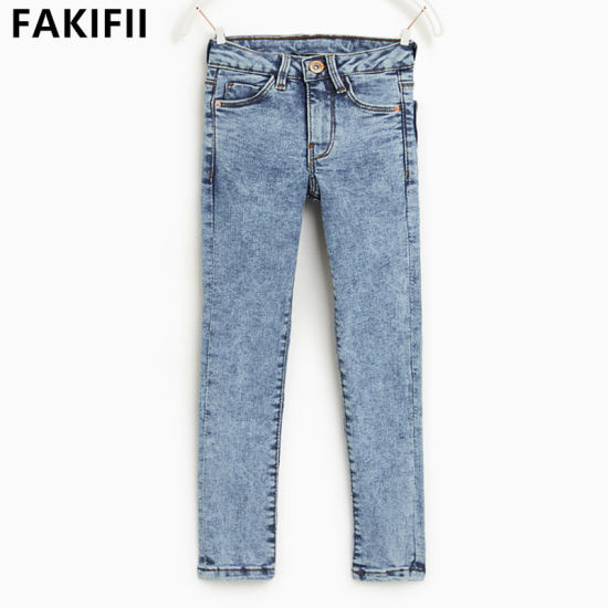 Brand OEM/ ODM Children/Baby/Kid Clothes Girls Color Jeans