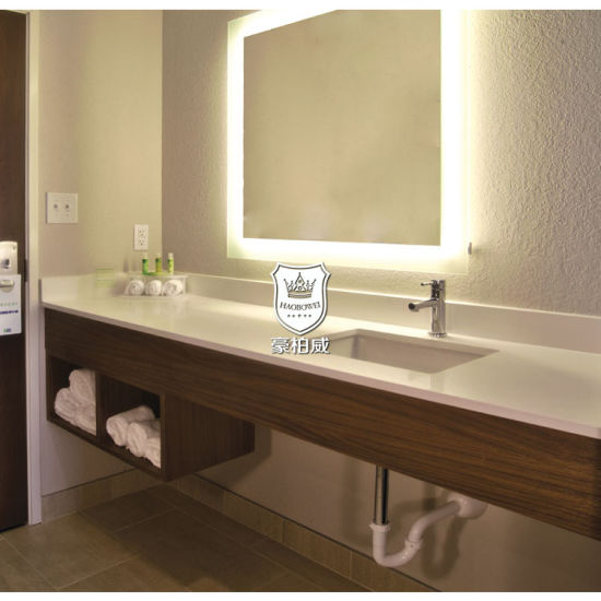 Modern Usefulness Floating Wall Hung Vanity In Nowadays European Hotel Bathroom