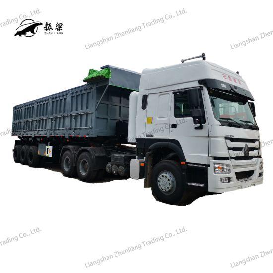 3 Axle 60t Heavy Side Tipper/Dumper Semi Trailer for Sand Coal Transport