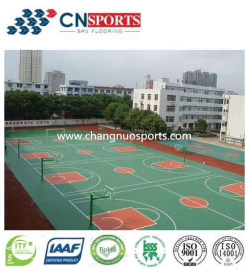 Single Component Polyurethane Material for Sports Court Flooring