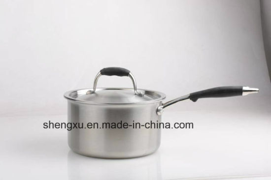 18/10 Stainless Steel Cookware Chinese Milk Pot (SX-S16-2)