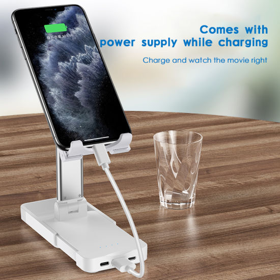 Mobile Phone Accessories Foldable Phone Holder Tablet Stand with USB Power Supply