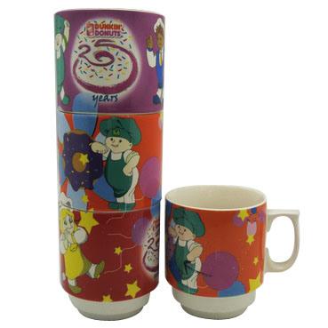 Stack Ceramic Mug with Cartoon Pattern