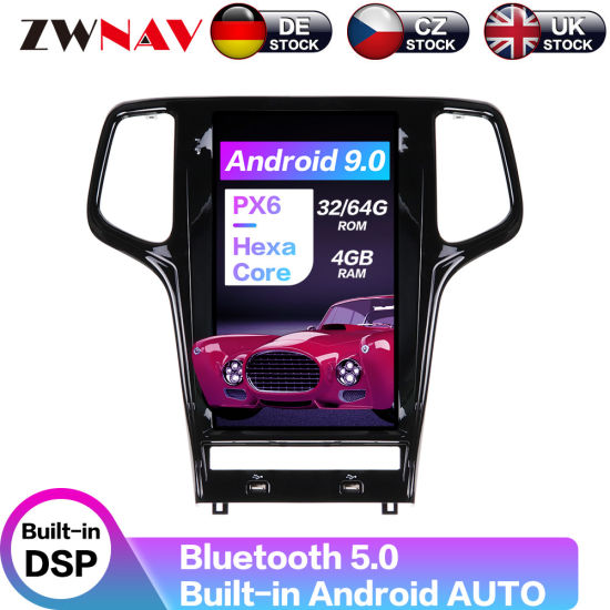 Tesla Screen Android 9.0 Car Multimedia DVD Player for Jeep Grand Cherokee 2010-2019 Stereo Px6 Radio Audio GPS Navigation Head Unit