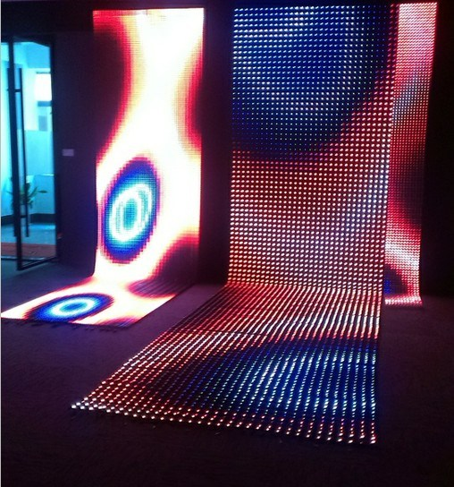 China Led Video Wall Soft Flexible Led Curtain For Stage Lighting P30 P55 P80 Led Net Screen
