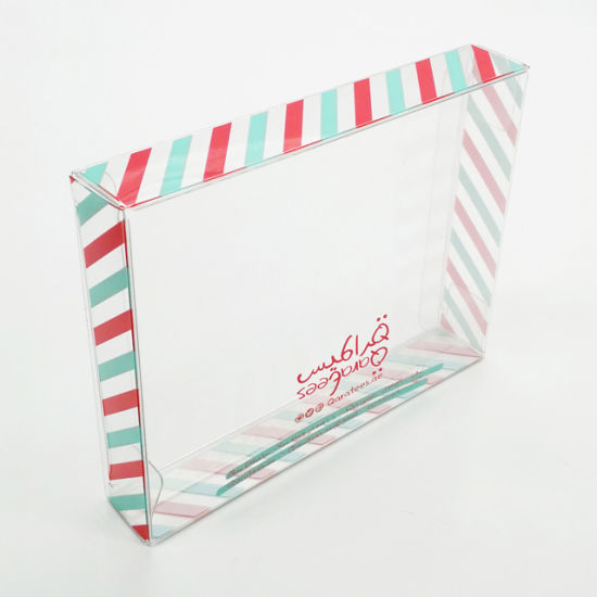 Manufacture Folding Clear PVC Transparent Plastic Gift Box