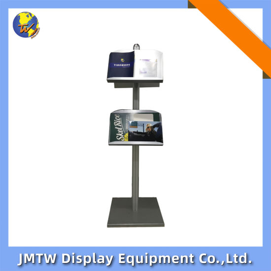 1.5m4 Holders Literature Stand for Advertising with Square Base