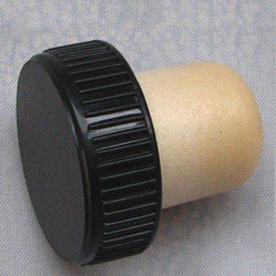 fe9d7c03ead China T-Top Cork Synthetic Cork Closure with Black Plastic Cap ...