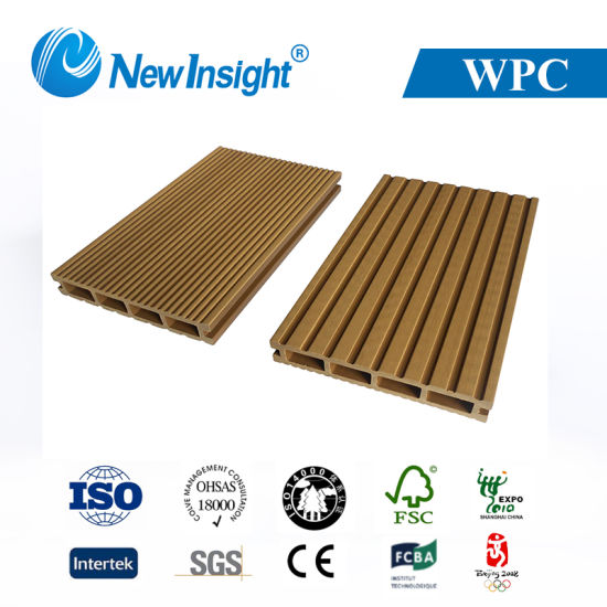 146*24mm WPC Wood Plastic Composite Hollow Decking with Professional Services