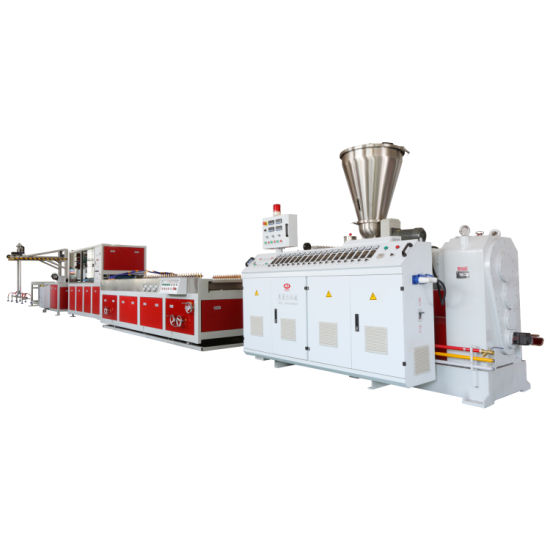 Anti Slip Wood Plastic Composite Outdoor PE Decking Fence Production Line Extruder