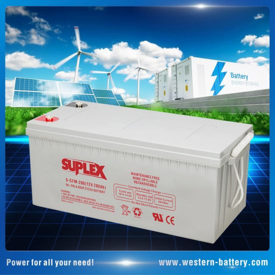 12V/200ah Sealed-Lead-Acid SLA/VRLA/AGM/Gel Deep-Cycle Industrial Energy-Storage UPS Backup Solar-Panel-Power-Battery