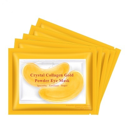 Natural Plant Collagen Crystal Gold Single Bottom Eye Mask to Reduce Dark Circles Anti-Aging pictures & photos