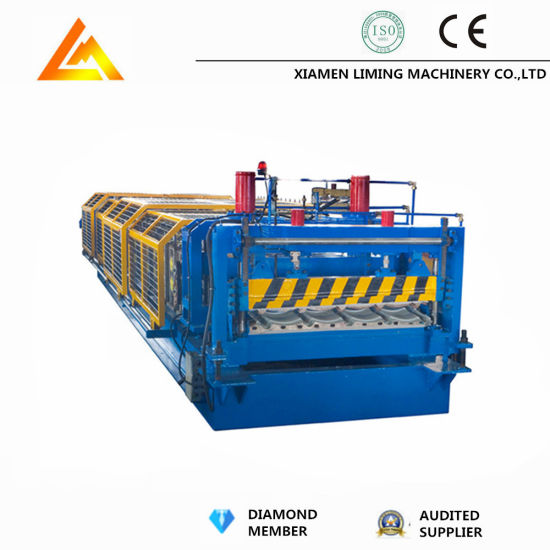 Xiamen Liming Tile Roof Sheet Making Machinery Steel Profile Tile Roll Forming Machine