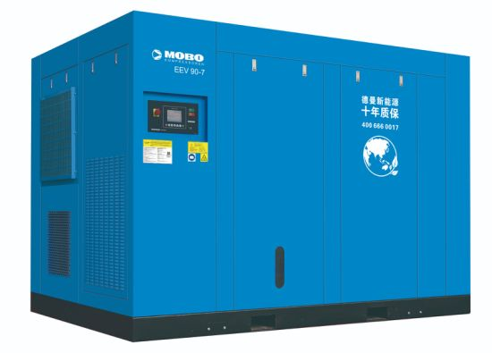 GHH Air End High Efficient EEV 90 kW 7 Bar Save Energy Twin Stage PM Screw Air Compressor