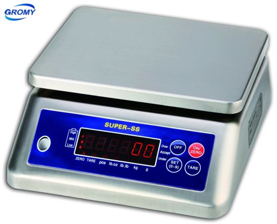 Electronic Stainless Steel Waterproof IP68 Weighing Scale Digital table Counting Scale 15kg 30kg