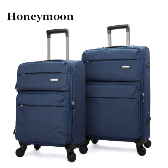 Nylon Material Rotatable Wheels Trolley Luggage pictures & photos