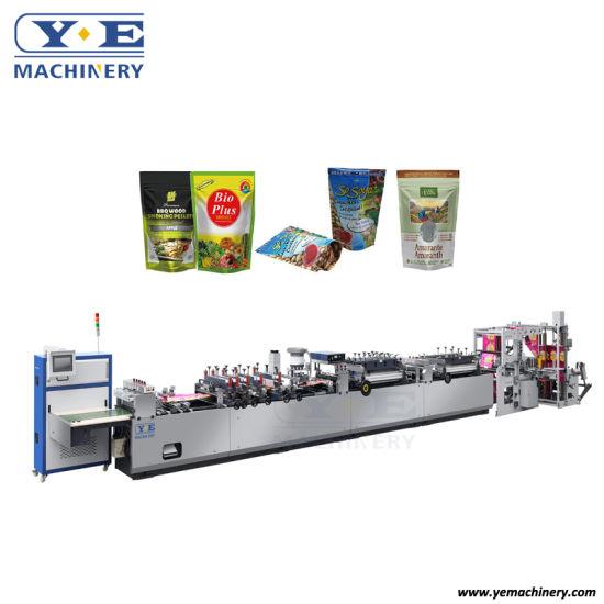 Yezd-600zl Automatic Plastic Stand up Zip Lock Pouch Bag Making Machine