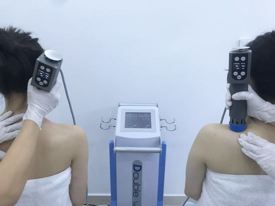 Dual Channel Shock Wave Sports Injury Recovery Rehabilitation Therapy Equipment