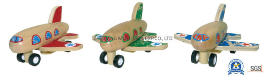 Intellectual Wooden Toys for Kids Gift, Lindatoy Pull Back Plane