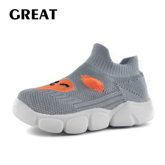 Greatshoe Baby Walking Flyknit Knitted Soft Shoes Boy Children Casual Shoes as Gifts Shoes