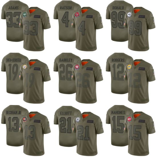 2019 Salute to Service Donald Rodgers Barkley Smith-Schuster Football Jerseys