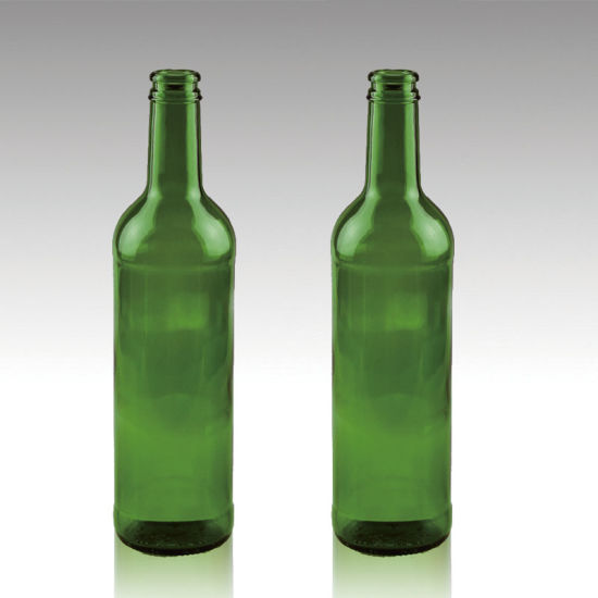 Outlet Reusable 420ml Emerald Green Beer Bottle in Good Price