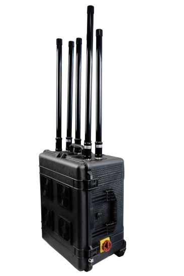 High Power Draw Bar Box 6 Channels Mobile Signal Jammer 300W Exspcially for Uav pictures & photos